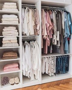 Master Bedroom Master Bedroom Closet Organization Diy Shelving 48 Ideas Your One Year-Old's Developm Walk In Closet Design, Bedroom Closet Design, Master Bedroom Closet, Closet Designs, Small Walk In Closet Ideas, Small Walk In Wardrobe, Walk In Closet Small, Bedroom Closet Storage, Open Wardrobe