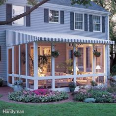 #houseaddition #houseextension #sunroom / How to Build a Screened In Patio. Seen on: http://www.familyhandyman.com/patio/how-to-build-a-screened-in-patio/view-all
