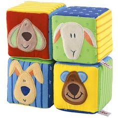 Sevi Toys Cube Set to help stimulate your child's problem solving and sensory skills!