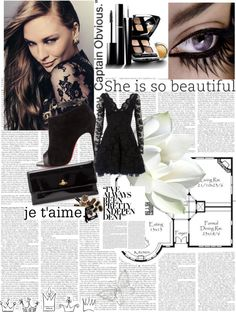 """ellegant in black"" by indyindriasari on Polyvore"