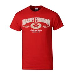 Massey Ferguson Red Quality and Tradition Tee Shirt