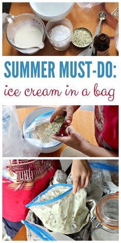 Try this delicious science experiment! How to make ice cream in a bag with kids. An old-school, must-do summer project! Summer Fun For Kids, Summer Activities For Kids, Summer Science, Science Fun, Preschool Science, Science Ideas, Kids Fun, Learn Science, Summer Fair
