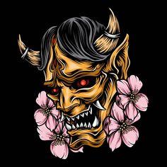 Descubra milhares de vetores Premium disponíveis nos formatos AI e EPS Oni Tattoo, Samurai Tattoo, Tatoo Art, Body Art Tattoos, Hanya Mask Tattoo, Mascara Oni, Japanese Demon Tattoo, Japanese Tattoos, Japan Tattoo Design