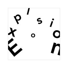 expressive type, the word is blowing apart to hence explosion