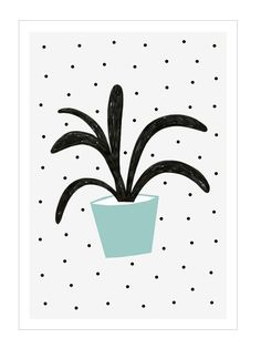 Planta Verde Print (A3) by Depeapa
