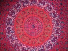 Price: $21.99  Authentic Sanganeer hand block printed curtain panel. Panel measures 46 in. x 88 in. Made of 100% quality power-loom cotton offering a smooth tight weave. Wonderful Mandala design, traditional in Sanganeer style on fire engine red background with jade green, tangerine, steel blue, black and tan accenting colors. Hand block printing is an ancient technique going back thousand of years…