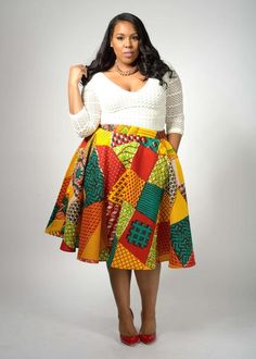 ef4c9b9ecda6b Ivie African Print Midi Circle Skirt (Multi Pattern)