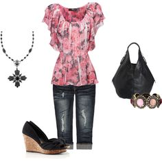 Pretty in Pink, created by kathleenreeves on Polyvore