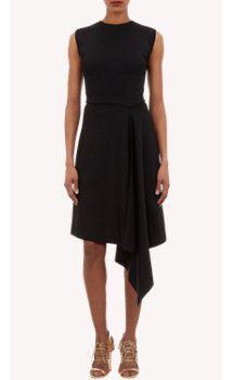 Maison Rabih Kayrouz Side-Draped Compact Knit Dress