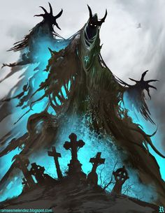 Sacrilegium by ramsesmelendeze cemetery ghoul ghost wraith monster beast creature animal | Create your own roleplaying game material w/ RPG Bard: www.rpgbard.com | Writing inspiration for Dungeons and Dragons DND D&D Pathfinder PFRPG Warhammer 40k Star Wars Shadowrun Call of Cthulhu Lord of the Rings LoTR + d20 fantasy science fiction scifi horror design | Not Trusty Sword art: click artwork for source