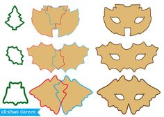 cutting mask cookies with pointed cookie cutter shapes