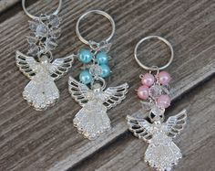 FAST SHIPPING!! 12 Pieces Silver Angel Key Chain, Christening Favor, Baptism Favor, Communion Favor, Confirmation Favor, Baptism Thank you