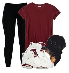 """Untitled #482"" by kayykayy15 ❤ liked on Polyvore featuring Hybrid and NIKE"