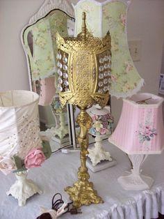 Antique Gilded Cherub Lamp
