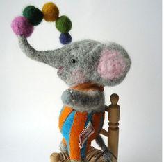 branda:  Animales de lana cardada | Kireei, cosas bellas