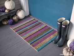 Customize a Door Mat for Your Fall Porch - Lia Griffith