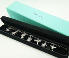 Rare Tiffany & Co. 950 Platinum Diamond Charm Bracelet   eBay