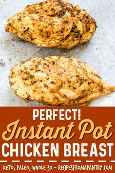 If you're looking for the BEST and EASIEST Instant Pot chicken breast recipe, you've found it! This awesome and easy Instant Pot recipe produces flavourful, Chicken Breast Instant Pot Recipes, Frozen Chicken Recipes, Instant Pot Dinner Recipes, Healthy Chicken Recipes, Instantpot Chicken Recipes, Pressure Cooker Chicken, Instant Pot Pressure Cooker, Pressure Cooker Recipes, Fresh Chicken