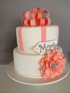 Miss Maries 18th Birthday Cake & Cookies - by nin @ CakesDecor.com - cake decorating website