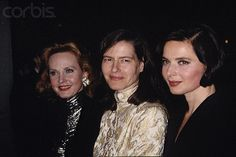 Isabella Rossellini with her sisters Ingrid Rossellini and Pia Lindstrom