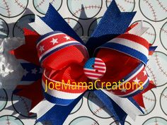 FREE SHIPPING / flag blue and red over the top by JoeMamaCreations, $10.00