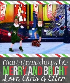 Day 21, I love @TheEllenShow that 1 time we were both Elves & made a Christmas card. #MerryChristmas! #25daysofEllen