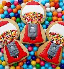 Adorable Gumball machine cookies