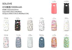 Bear model with X10,10000mah with 2.4A output at Michael.lee@solove.com.hk