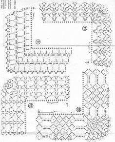 Diy Crafts - Diy Crafts - -Crochet Lace Trim Hands Ideas For 2019 crochet Crochet Border Patterns, Crochet Lace Edging, Crochet Diagram, Crochet Chart, Crochet Designs, Crochet Doilies, Stitch Patterns, Knitting Patterns, Crochet Fabric