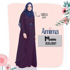 Gamis Amima Maza Dress Burgundy - baju gamis wanita busana muslim Untukmu yg cantik syari dan trendy . . Size Chart (XS) LD 92 PB 135 (S) LD 96 PB 137 (M) LD 100 PB 139 (L) LD 104 PB 141 (XL) LD 112 PB 144 . . Detail : - Material :  crepe HQ Bahannya flowy dan ringan cocok untuk acara formal tapi bisa jadi pilihan untuk daily dgn memakai hijab #sabinaINSTAN yang simpel!- Dress dengan aksen layer di bag depan pas buat wisuda atau ke acara formal lain. - Model kerah bulat Zipper depan perfect…