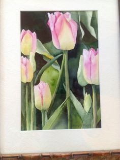 Watercolor tulip painting by Cheryl Olson