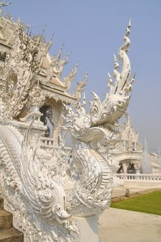 Wat Rong Khun, better known as the White Temple, is the weirdest temple I've ever visited!