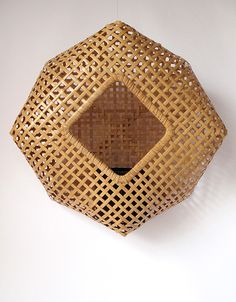 Nakata (formerly Morita), born is one of the very few women basket artists of her time. After completing the Beppu course in bamboo art she appren. Bamboo Weaving, Willow Weaving, Basket Weaving, Bamboo Art, Bamboo Crafts, Weaving Textiles, Weaving Art, Japanese Bamboo, Bamboo Architecture