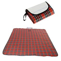 OuterStar Waterproof Foldable Plaid Outdoor Picnic Blanket Tote Handy Mat with Strap dampproof Baby Crawl Mat Perfect for Picnics Beach Park Outings with Family Friends Work School Kids Children. Made of durable, soft and water-resistant material, keep you dry and clean. Folds up neatly into a tote with the Velcro straps and has a handle to take on the go,Stylish and compact when folded, ideal for storage and travel. Water-resistant multi-purpose picnic Blanket, camping mat, baby play...