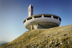 Buzludzha Memorial by Anto Photo, via Flickr -  Bulgaria - the Eastern European Communists had some of the coolest art and architecture - sometimes it was so ugly it was beautiful