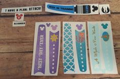 Custom order for Magic Band decals! These will be added to my Etsy shop once I'm open again. #decals #magicband #disney #magicbandbling #disneyprincess #starwarsinspired #ironmaninspired #jasmine #ariel #rapunzel