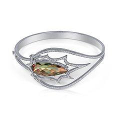 Celebrity Jewel | Stephen Webster for Zultanite 18k white gold pear shaped Zultanite® and diamond bangle