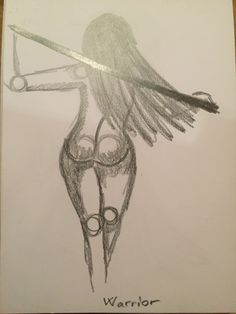 Warrior, my love, pencil