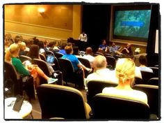 Carolina Stories Panel showing off the charlottein2012 video project - @dustytrice @traceyruss @skitdaddle - for #comm360