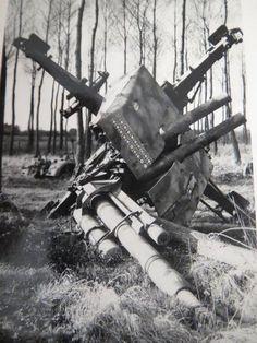 Knocked out german AA Gun