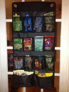 Hang-Up Space Saver in Black Cross Pop. Great for organization in a pantry!!
