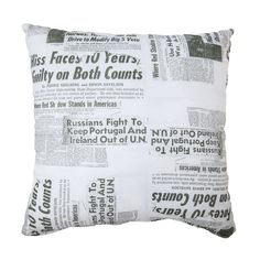 NY News Print Pillow