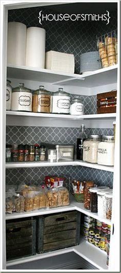 pantry organization, need built in shelving for an odd shape.