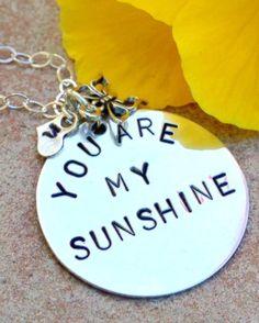 you are my sunshine you are my sunshine necklace by natashaaloha, $70.00