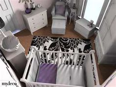 Love the grey and purple!!!! Looks like the size of the room I have good reference either way