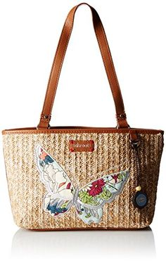 Women's Top-Handle Handbags - Sakroots Artist Circle Straw Small Satchel Bag -- See this great product.