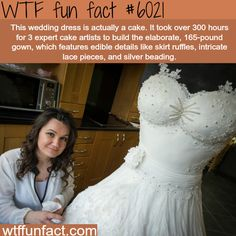 This wedding dress - WTF fun facts - http://didyouknow.abafu.net/facts/this-wedding-dress-wtf-fun-facts