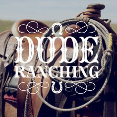 Typography Photography - Dude Ranching by jessica hische Typography Love, Typography Quotes, Typography Letters, Graphic Design Typography, Lettering Design, Graphic Design Illustration, Japanese Typography, Inspiration Typographie, Typography Inspiration