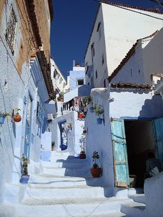 Beautiful Blue - Chefchaoun, Morocco. I have always heard it was stunning there.