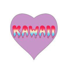 Kawaii niedliches entzückendes Melty, das Ombre Pa Aufkleber